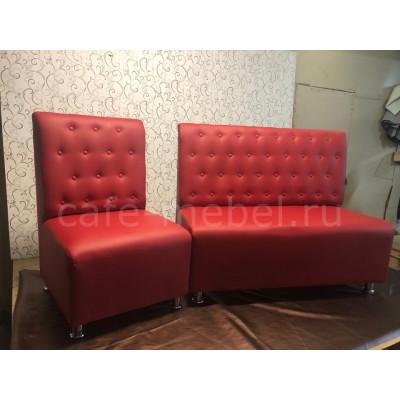 """Диван Манхеттен """"Красный"""" диван + кресло"""
