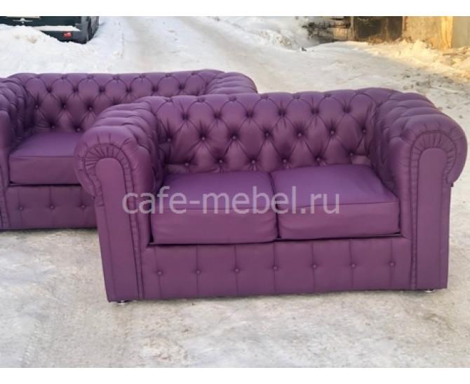 "Диван Честерфилд 2х экокожа ""Виолет"""