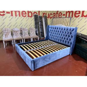 Кровать двуспальная (140, 160, 180*200) БЕРЮЗА велюр